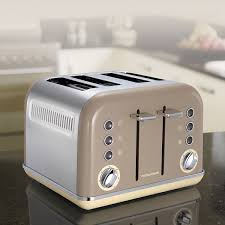 Retro Toasters morphy richards 242008 accents 4 slice toaster barley by morphy 6440 by guidejewelry.us