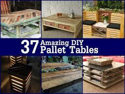 pallet made furniture. Diy-pallet-tables Pallet Made Furniture A