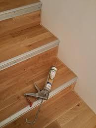 Für dieses parkett gibt es auch spezielle treppenkanten, die im. Betontreppe Mit Parkett Belegt Treppenrenovierung Treppenverkleidung