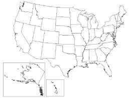 Map Outline Of The United States Magicfantasy Info