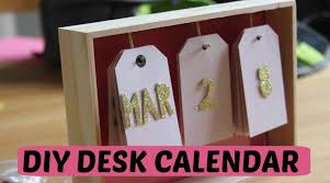 Diy Desk Calendar Youtube