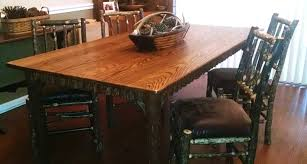 same essential design as the lake placid dining table shown above except this table top is 3 4 inches thick as opposed to 1 1 2 inches on the lake placid