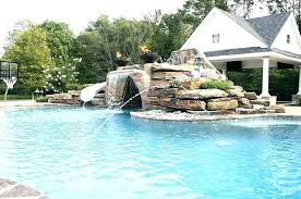 inground pools with waterfalls. Inground Pool Waterfalls Rock For Pools Waterfall Source Swimming Slide With S