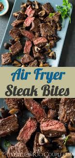 air fried steak bites in air fryer from whiteonrice