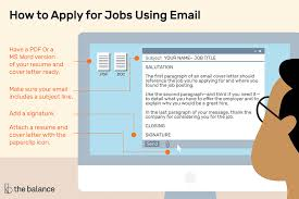 Emailing Cover Letter And Resumes How To Apply For Jobs Using Email