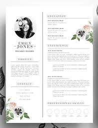 Photoshop Resume Template Extraordinary Adorable Editable Floral 48page Resume Template In Psd Format And