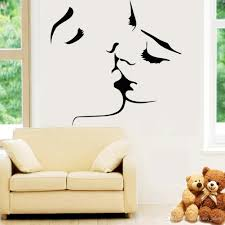 2017 hot selling romantic kiss wall stickers removable wall decal home decor new design diy wall  on home decorating stick on wall art with 2017 hot selling romantic kiss wall stickers removable wall decal