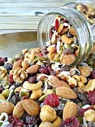 easy homemade healthy food. sweet \u0026 nutty trail mix - a perfectly healthy snack that can be tossed together in easy homemade food