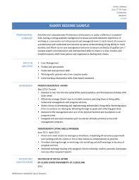 Nanny Caregiver Resume Examples New Caregiver Resume Samples