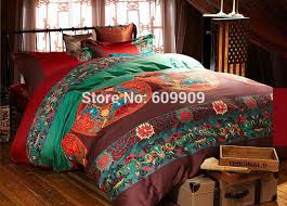 egyptian cotton red boho style bedding queen bohemian bedding intended for brilliant property moroccan bedding set prepare
