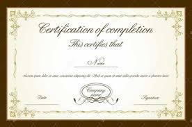 Certificate Templates Sample Graduation Certificates
