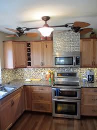 Tin Backsplashes For Kitchens A Kitchen Remodel 7 Tile Backsplash And Faux Textured Tin Surface