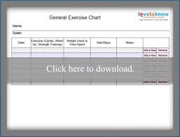 Blank Exercise Charts Lovetoknow
