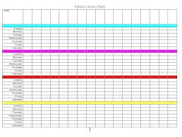 Family Chore Chart Template Childrens Chore List Pulpitis Info