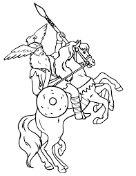 Small Picture Viking Coloring Page Viking On Rearing Horse