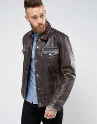 levis leather trucket jacket buff rustic buff rustic mens levis leather jacket rsluqww7 larger image