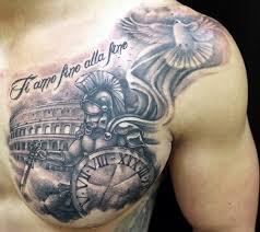 40 Valiant Gladiator Tattoo Designs