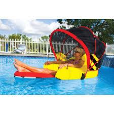 sportsstuff cabriolet inflatable pool float lounge chair at hayneedle