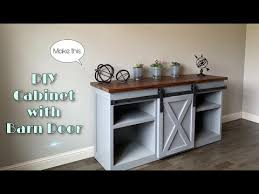 diy cabinet with barn door you