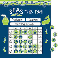 Winter Incentive Charts Nautical Mini Incentive Charts And Stickers Kit