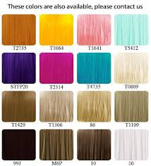 Lace Front Color Chart Lace Front Wig Modification Options