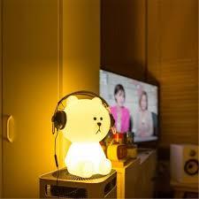 2019 Ins Hot Lovely White Teddy Bear <b>Children LED</b> Bed <b>Table</b> ...