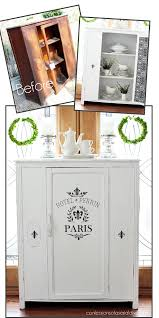 diy furniture makeover. Antique Cabinet Makeover In Pure White DIY Chalk Paint From Confessions Of  A Serial Do- Diy Furniture I