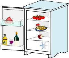 freezer clipart. fridge with food jhelebrant clip art freezer clipart