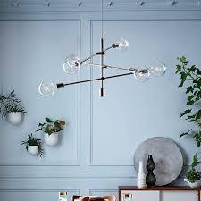 west elm chandelier uk west elm chandelier sculptural glass pebble 3 light mixed
