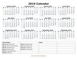 Small Printable 2020 Calendar Free Calendar Template 2019 And 2020