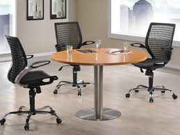round meeting discussion table c w tubular chrome base