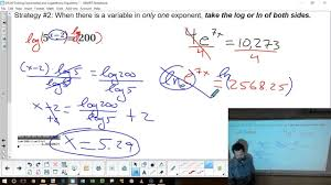 worksheet a11c solving exponential post