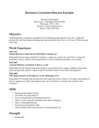 Business Consultant Resume Sample Suiteblounge Com