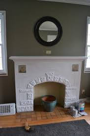 Paint For Inside Of Fireplace A Family Room Makeover Blue Hump