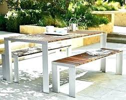 modern outdoor dining furniture patio set stylish white table fancy i61