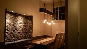 rustic industrial wood beam chandelier wood lamps restaurant bar chandeliers