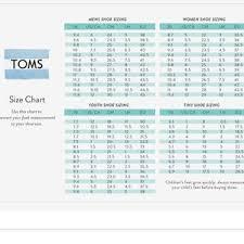 Toms Size Chart Toms Denim Slip On Shoes