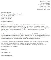 Gallery Of Cover Letter Examples University Teaching Assistant