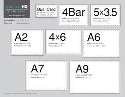 Card Size Chart Flat Card Size Chart Thank You Card Size Wedding