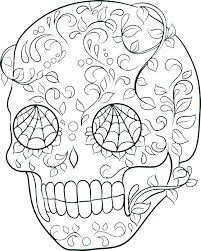 Printable Sugar Skull Coloring Pages Skull And Crossbones Coloring