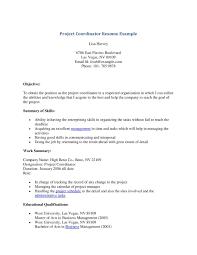 Project Coordinator Sample Resume Resume Sample Project Resume