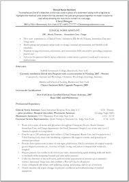 Cna Resume Skills Inspiration Cna Resume No Experience Ideas Collection Certified Nursing