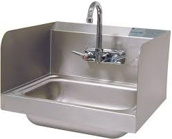 advance tabco 7 ps 66 hand sink w splash mount faucet both side splashes