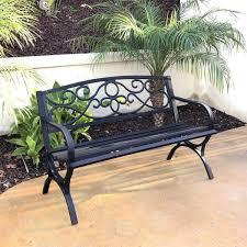 4 ft steel outdoor patio bench 300039