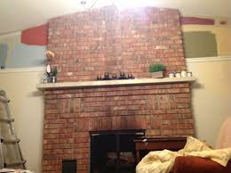 paint colors that go with redWhich color with red brick fireplace