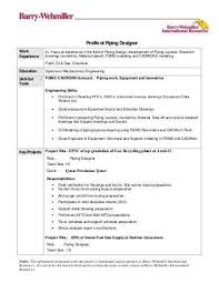 Piping Designer Resume Sample Extraordinary Piping Designer Resume Best Resume Collection