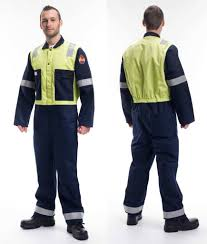 Roots Ro18092 Flamebuster Nordic Anti Static Coverall Navy Yellow
