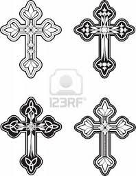 A Group Of Ornate Celtic Cross