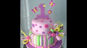 1st Birthday Cakes Girl Ba Girl 1st Birthday Cake Photos Youtube