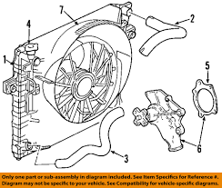 Jeep chrysler oem grand cherokee radiador ventilador de
